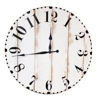 Oversized Distressed Wall Clock - Bestsciaticatreatments.com