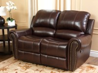 Barnsdale Reclining Italian Leather Sofa and Loveseat Set ...