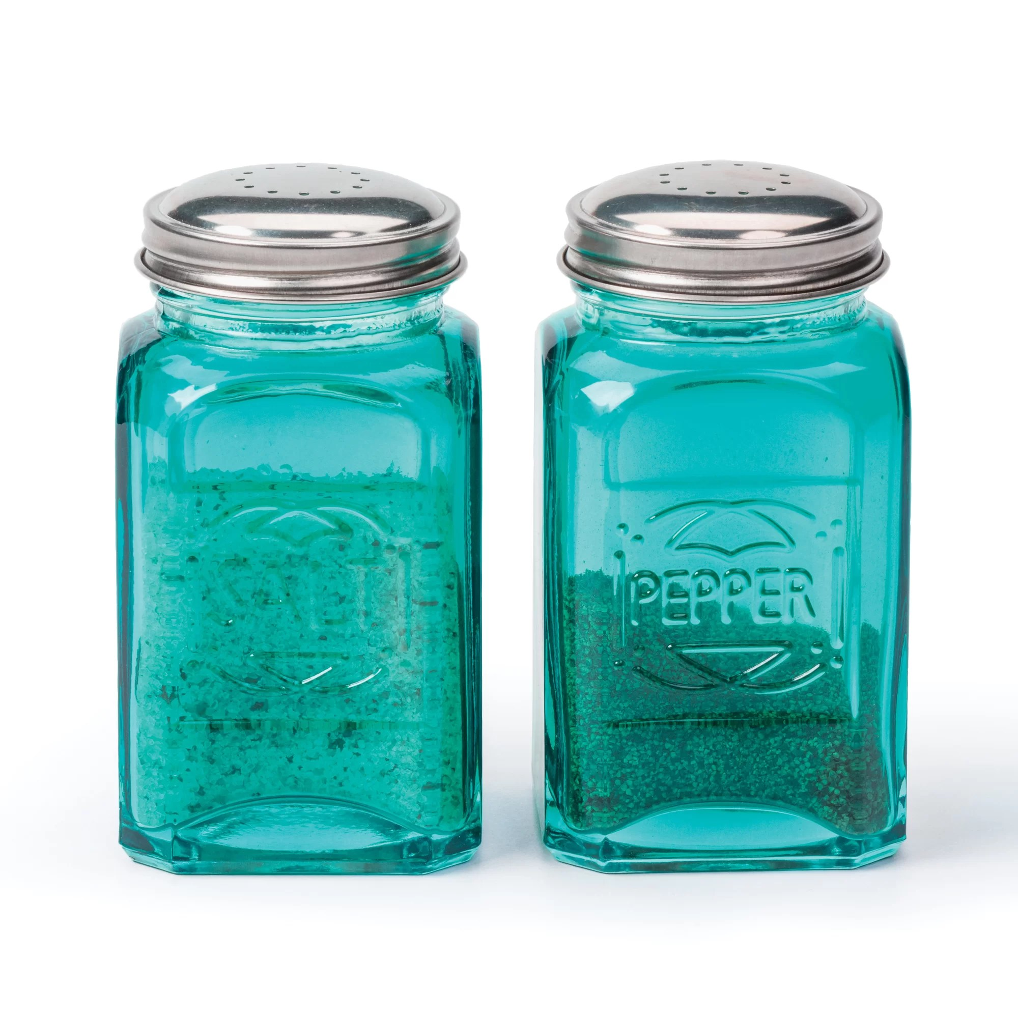 Modern Salt And Pepper Shakers Rsvp Intl Retro Salt And Pepper Shaker Turquoise Set Of 2