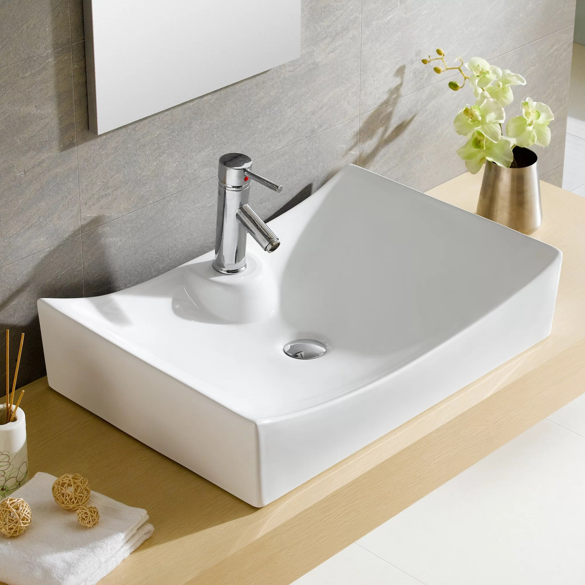 Designer Toilets And Sinks Fine Fixtures Modern Vitreous Bulging Square Vessel