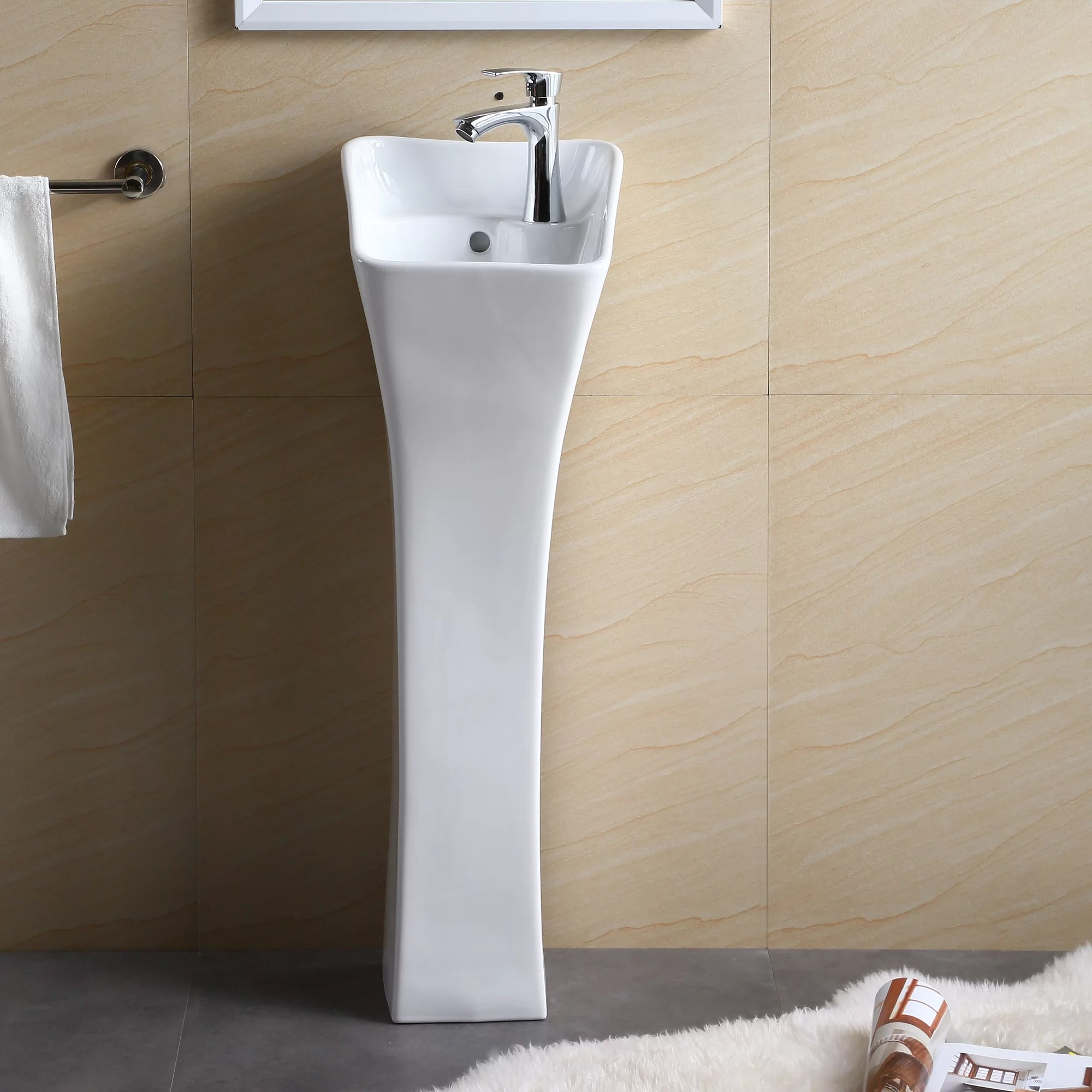 Industrial Pedestal Sink Fine Fixtures Pedestal Series 13 Quot Bathroom Sink Ebay