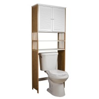"Danya B Bamboo Bathroom 27"" x 71"" Over the Toilet Cabinet ..."