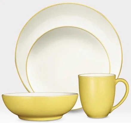Noritake 8065-04G - Colorwave Mustard 4 Piece Place Setting