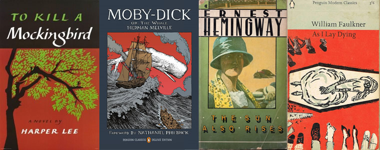 Covers of Famous Novels