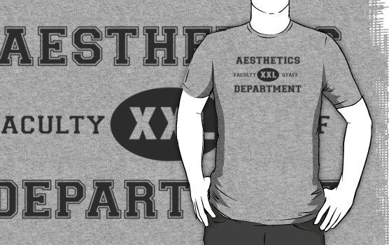 Aesthetics Department Shirt