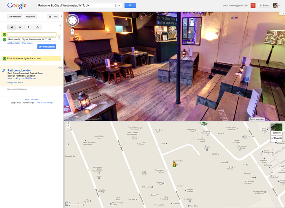 Nordic Bar in Google Street View
