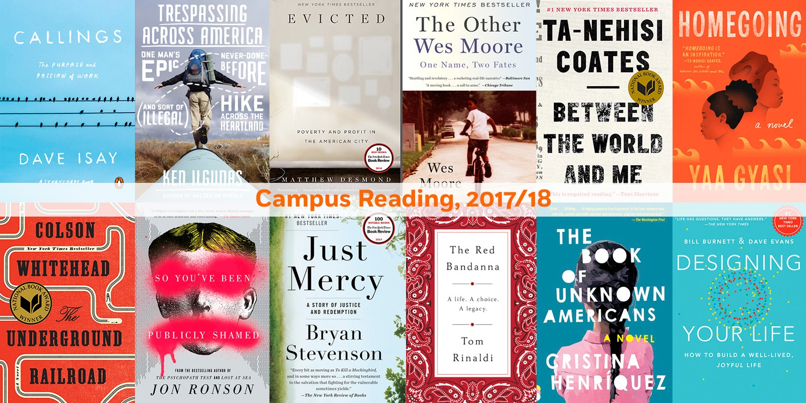 What Students Will Be Reading Campus Common Reading Roundup 2017 18 Prh Common Reads