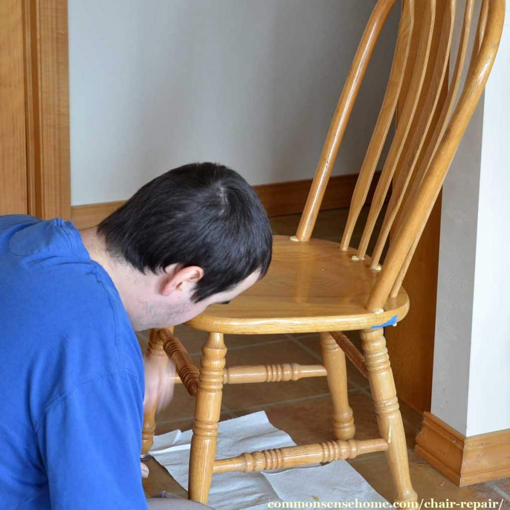 Chair Repair Chair Repair Fixing A Loose Back On A Wooden Chair