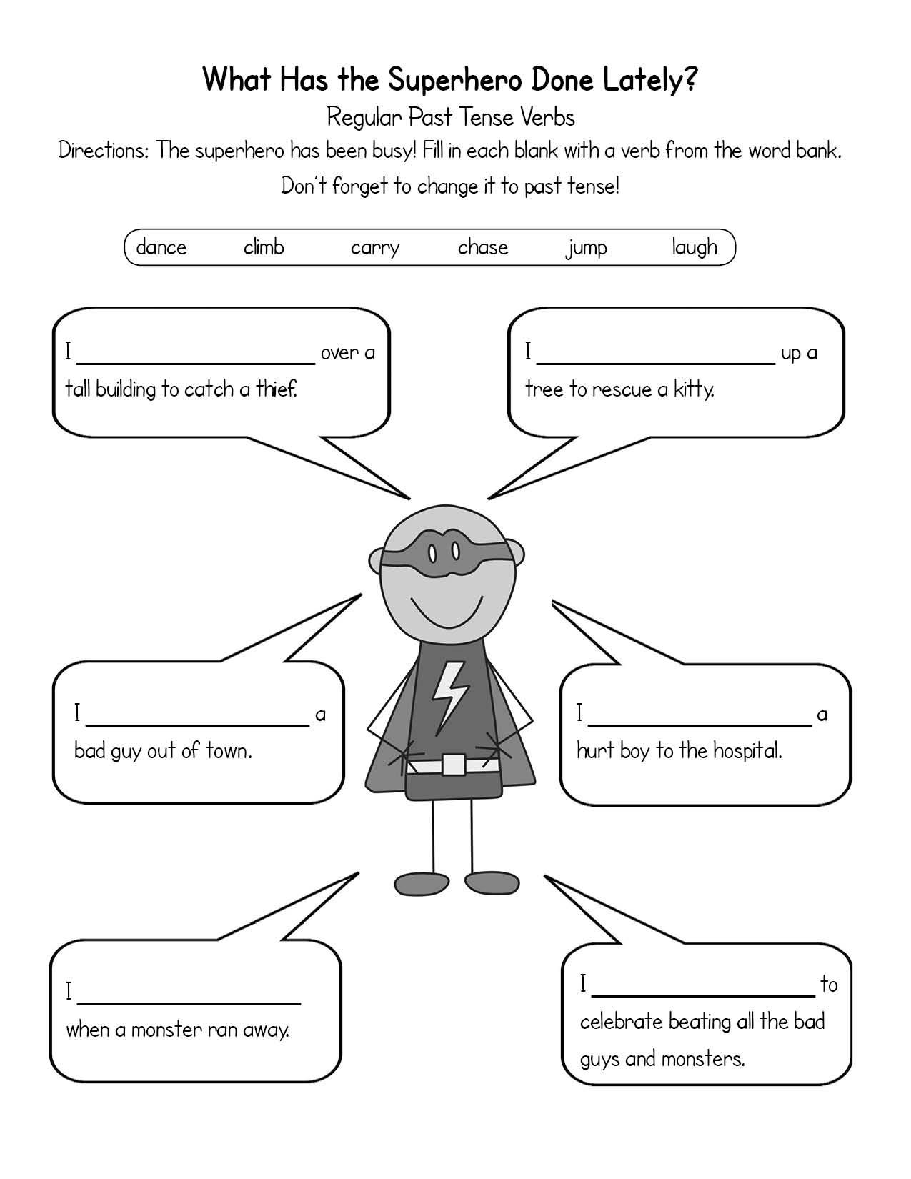 worksheet Regular Past Tense Verbs Worksheets Fiercebad – Esl Past Tense Worksheets