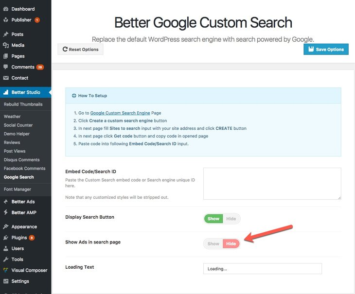 Google Custom Search plugin is included in Publisher package