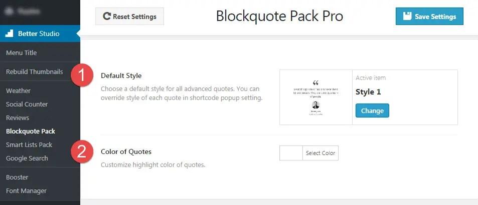 Blockquote Pack - BetterStudio Support