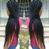 Black Hair Rope Twists Braids