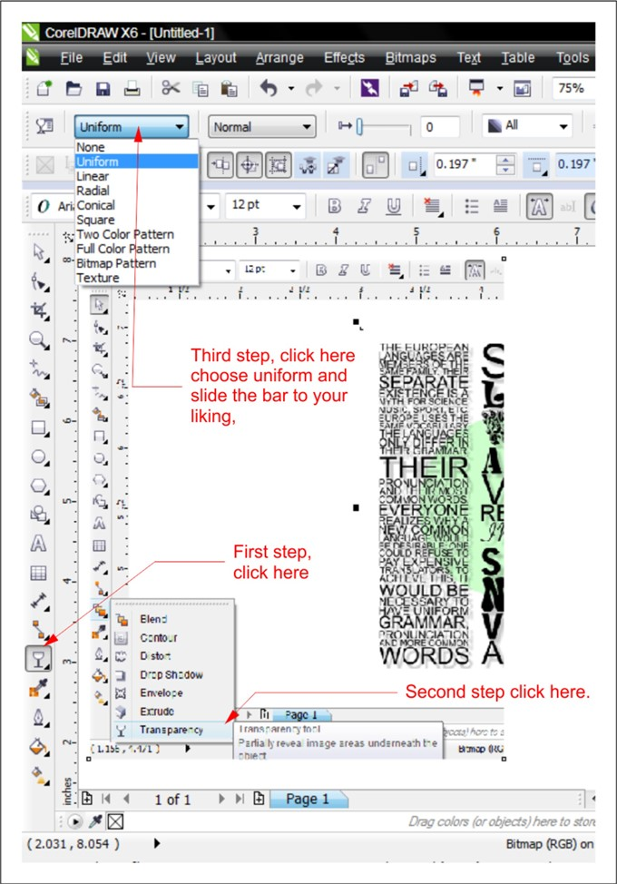 Make an image transparent - CorelDRAW X6 - CorelDRAW Graphics Suite - how to make a picture transparent