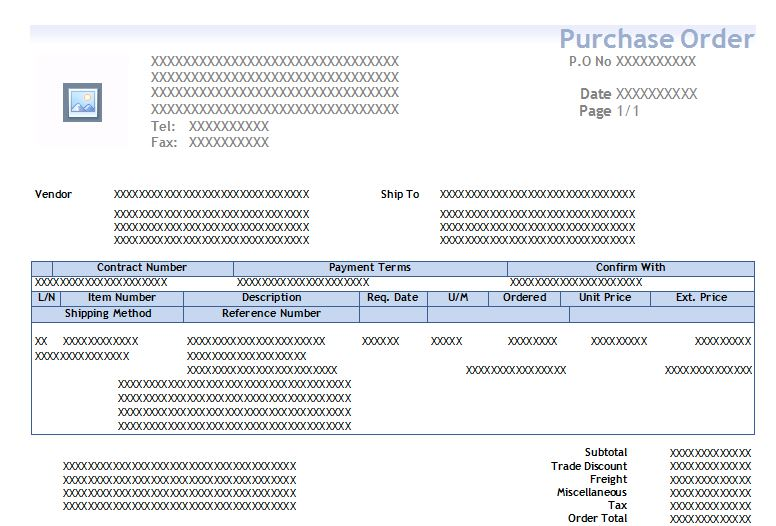 Printing Purchase order Template - Microsoft Dynamics GP Forum - microsoft purchase order template