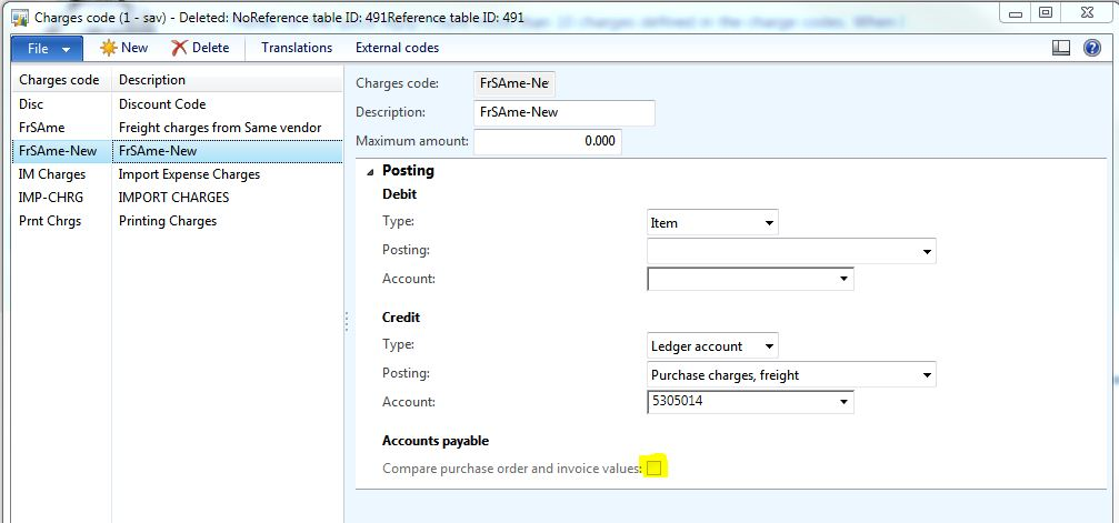 Maintain charges on \u0027invoiced\u0027 purchase order - Microsoft Dynamics