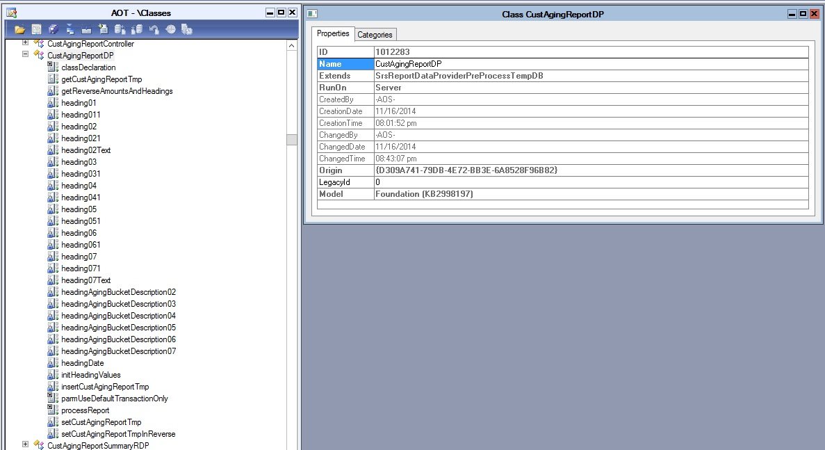 How to get dataset of an existing report in AX 2012 - Microsoft
