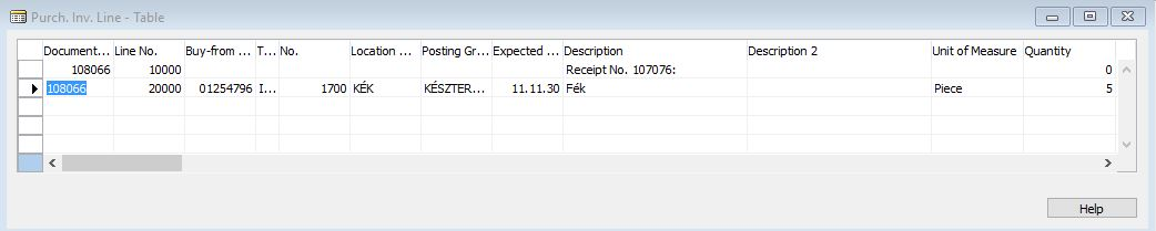 Purchase receipt and invoice table relation - Microsoft Dynamics NAV - work order table