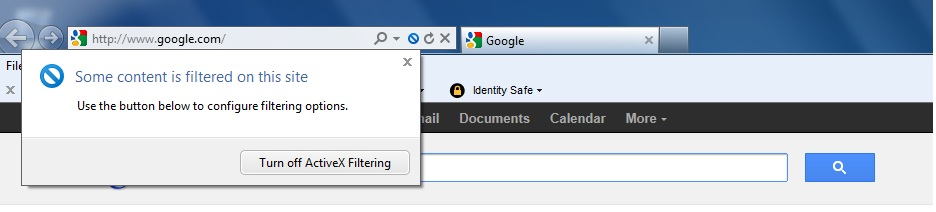 Safe Search and IE9 - Problem Norton Community
