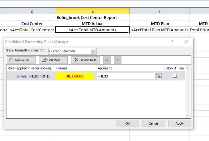 Solved Conditional Formatting in Excel Template - Qlik Community