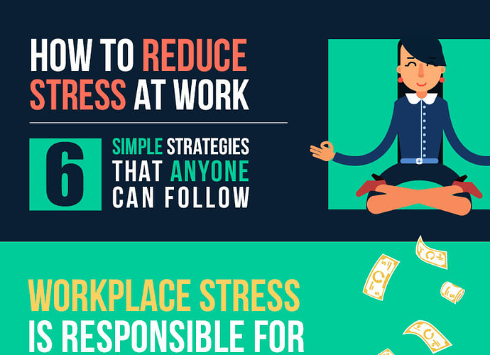 6 Simple strategies to reduce stress at work - Wakeout