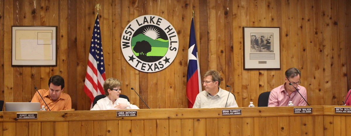 West Lake Hills City Council discusses the Bee Caves Road construction timeline at its April 27 meeting.