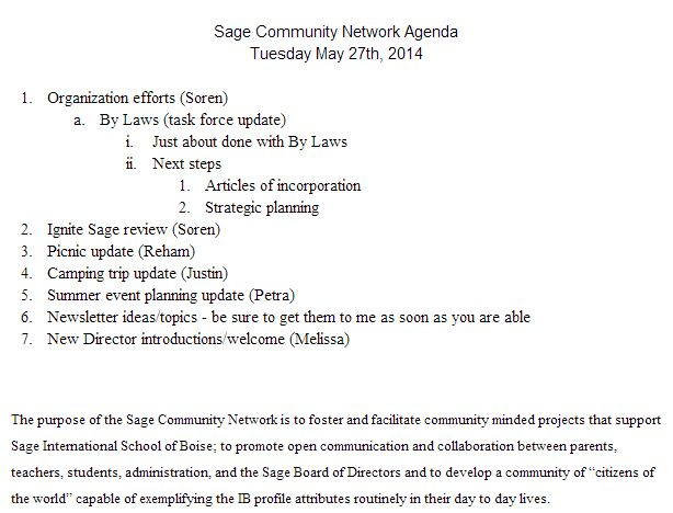 SCN Meeting Notice/Agenda May 27th, 2014 - collaboration meeting agenda