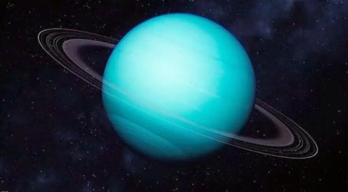 Urano tiene una inclinacion acusada que genera estaciones muy extremas
