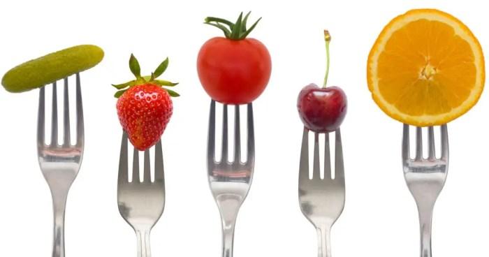 La fruta y los vegetales son una gran fuente de energia