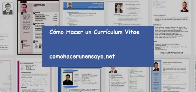 cómo hacer un curriculum