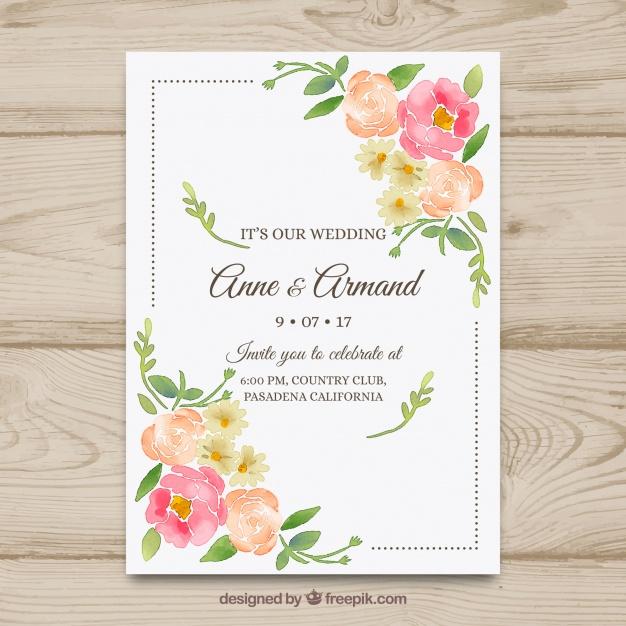 invitaciones de boda elegantes para imprimir gratis (2) Te decimos