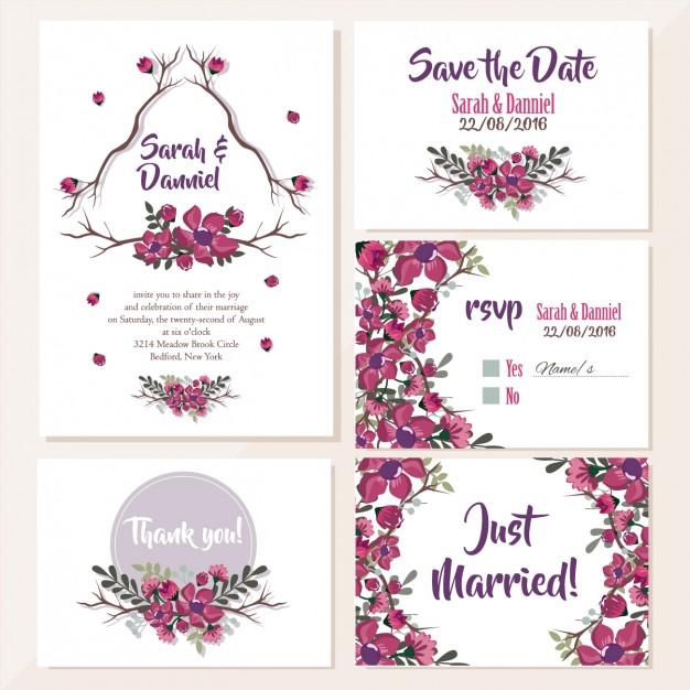 Invitaciones de de boda modernas para el 2018 - 2019 elegantes