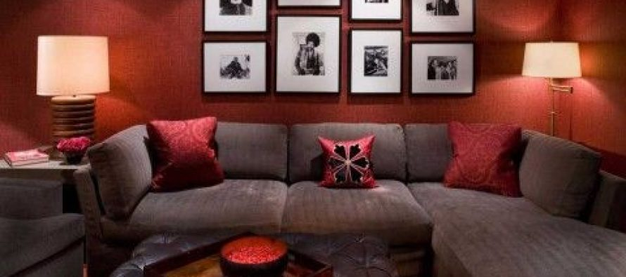 Red and brown interior decoration - How to organize - red and brown living room
