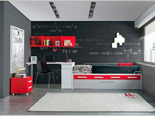 Dormitorios juveniles pequeños modernos y originales para hombres y - Decoracion De Recamaras Para Jovenes Hombres