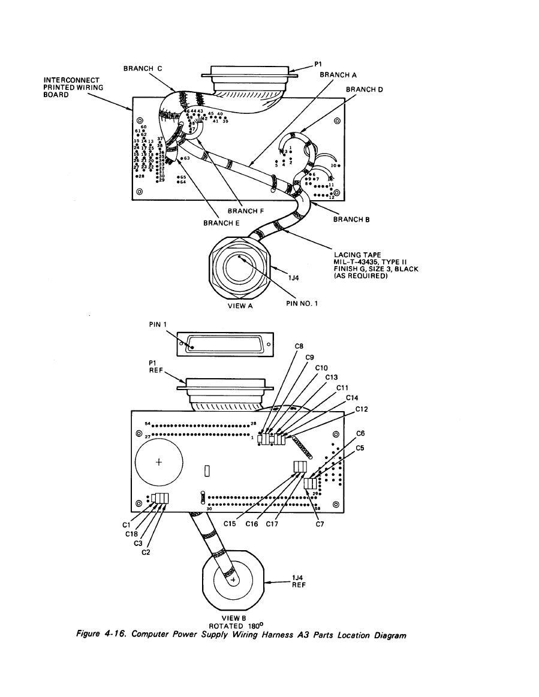 power supply wiring harness