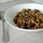 Estufado de cogumelos com cevada / Mushroom ragout with barley