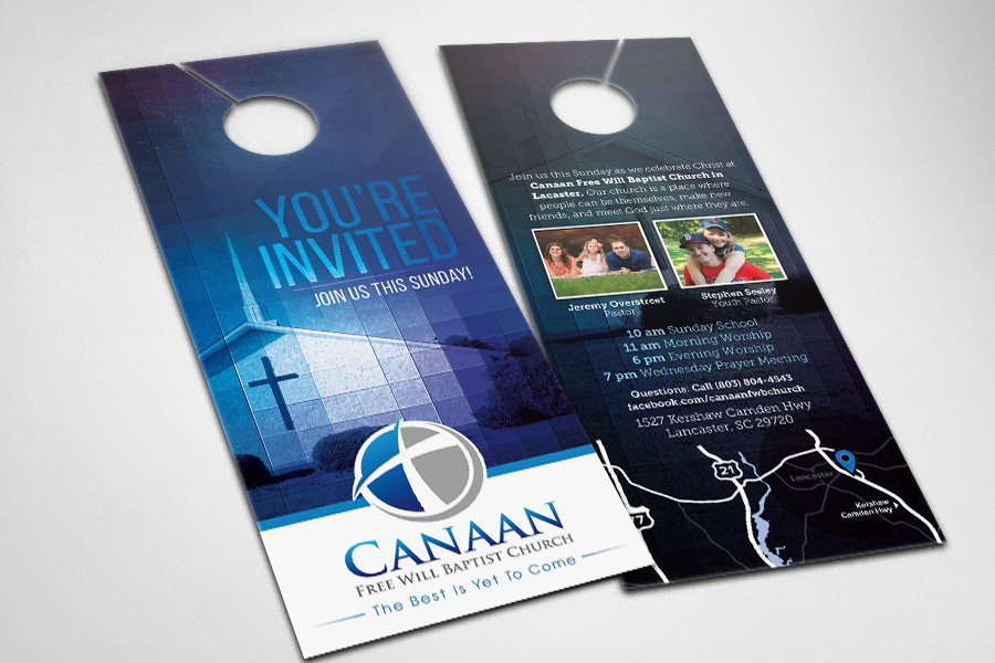 Door Hangers - Compel Graphics  Printing - door hanger design template