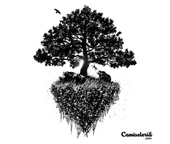 Camiseteria\u0027s Black Tree Compete-tee-tion