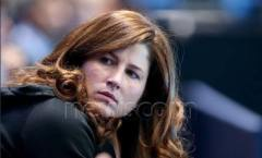 Mirka Federer at the World tour finals 2014