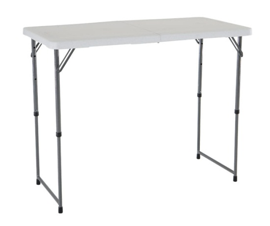 Table Pliante En Plastique Lifetime Adjustable-height Folding Table 4428 48x24 Fold