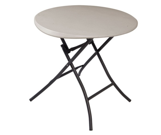 Table Ronde De Jardin Pliante Lifetime Round Folding Table 80230 Putty Color 33-inch