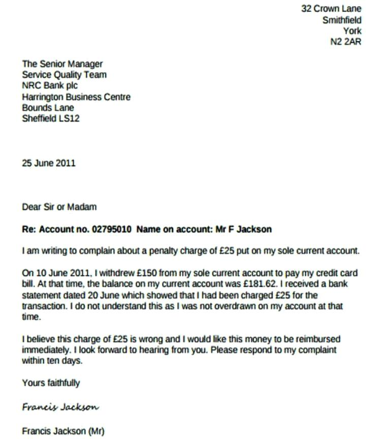 Sample Complaint Letter To Human Resources About Manager sample hr