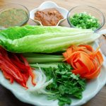 Vietnamese Lettuce Wraps with Two Sauces