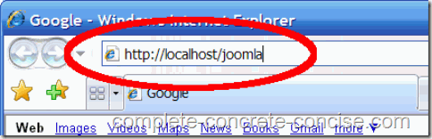 joomla-1.5.15-install-url