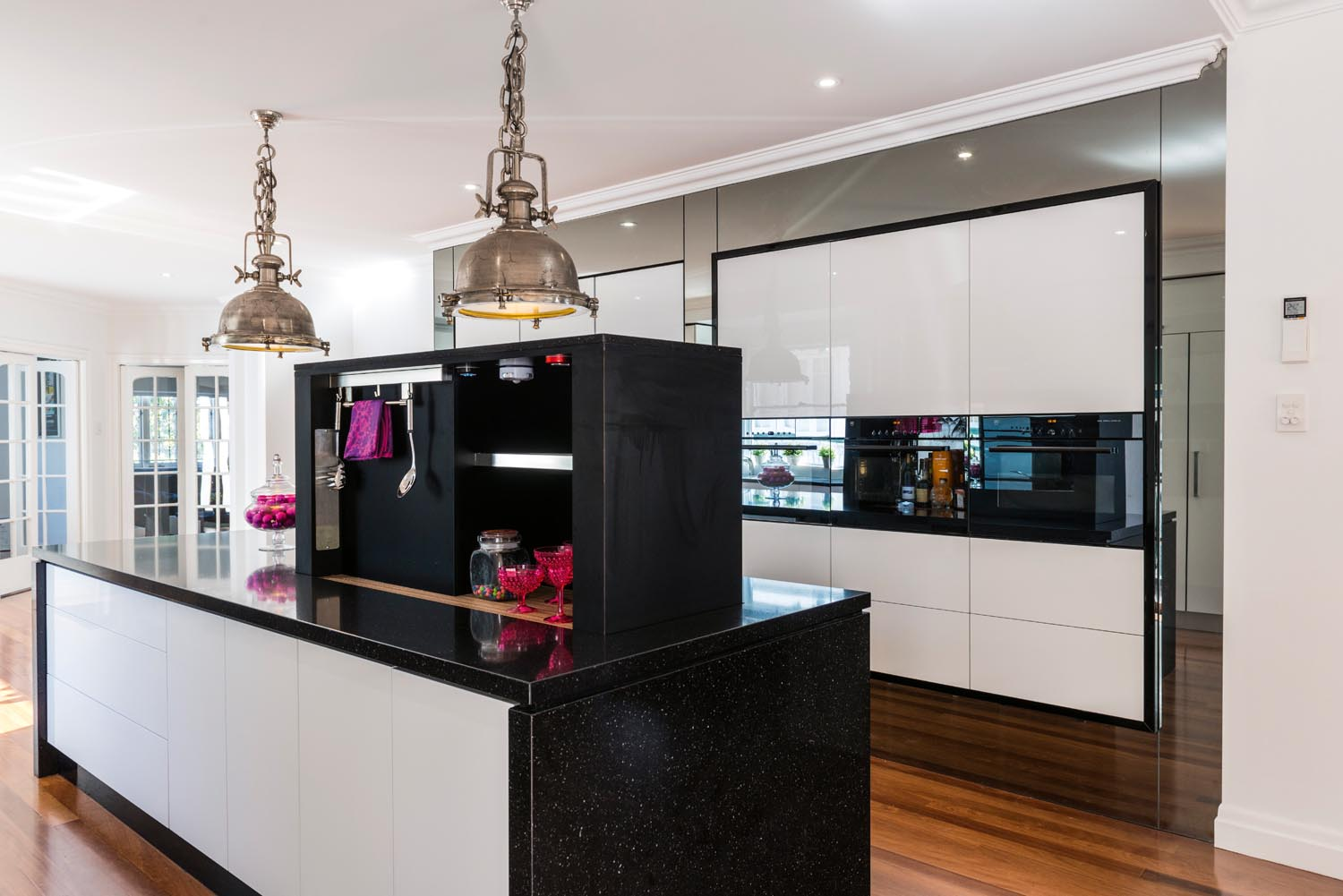 Pink And Black Kitchen Decor Pink White And Black Kitchen Design Completehome