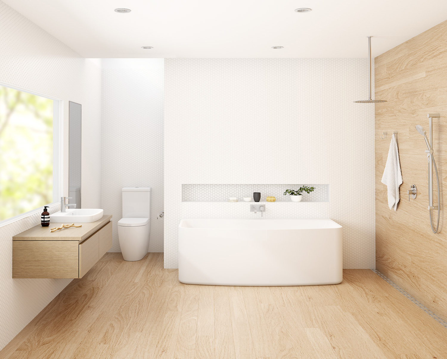 Badkamer Lichte Vloer Donkere Wand The Latest In Bathrooms From Caroma Completehome