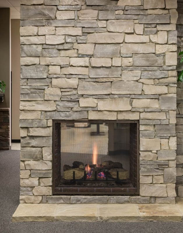 Feuerstelle Naturstein Manufactured Stone Veneer Kansas City Thin Cut Natural