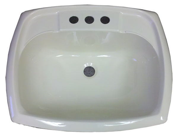 "Mobile Home Skirting 17"" X 20"" Rectangle Bone Plastic Sink For Mobile Home Manufactured Housing"