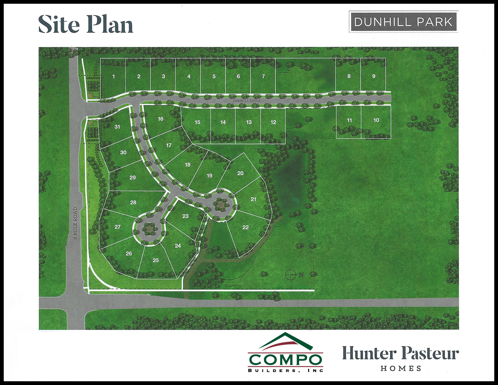 Hunter Pasture Homes Dunhill Park New Construction Builders Novi Michigan