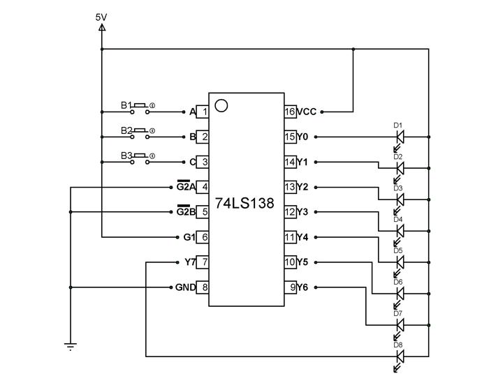 74ls138 pin diagram
