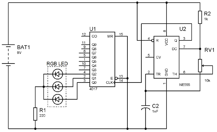 circuit diagram of temperature sensor